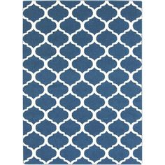 Artistic Weavers Graz Royal Blue 6 ft. 7 in. x 9 ft. 6 in. Indoor Area Rug-S00151017557 - The Home Depot