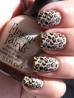 Easy Nail Art Designs for Winter 2011- snow leopard!