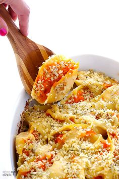 Gebackene Muschel-Nudeln mit Butternusskürbis   26 unfassbar gute Nudelgerichte aus dem Ofen, die Dich wärmen werden