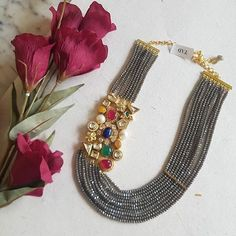 Jewelry OFF! Ultimate 35 Gold Necklace Designs Images Of This Year Bridal Jewellery Inspiration, Gold Jewellery Design, Bead Jewellery, Gems Jewelry, Pendant Jewelry, Bridal Jewelry, Jewelry Designer, Fashion Jewelry Necklaces, Jewelry Bracelets