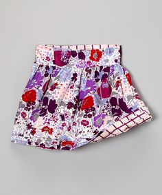 Loving this Purple & White Vineyard Reversible Wrap Skirt - Toddler & Girls on #zulily! #zulilyfinds
