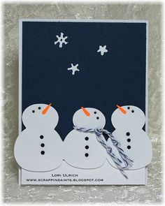 I just love how the snowmen are looking up for this card! too cute