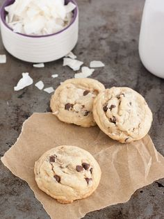 Mini Coconut Chocolate Chip Cookies by Tracey's Culinary Adventures, via Flickr