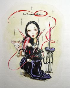 Sweet Gothic Nothing by Susanna Varis water color 2013