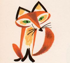 """Foxy. From """"Picture Dictionary"""" written by Alta McIntire, illustrated by Janet La Salle, 1959."""
