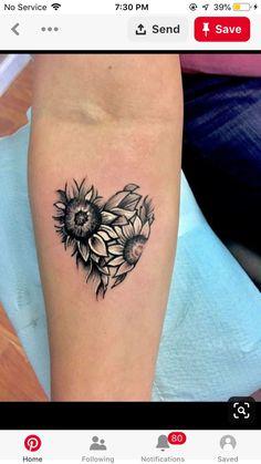 50 New Ideas Tattoo Sunflower Sleeve White Ink Sunflower tattoo – Fashion Tattoos Sunflower Tattoo Shoulder, Sunflower Tattoo Small, Sunflower Tattoos, Sunflower Mandala Tattoo, Sunflower Tattoo Design, Pretty Tattoos, Cute Tattoos, Beautiful Tattoos, Best Friend Tattoos