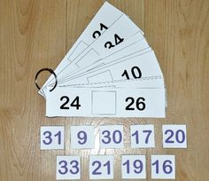 Number Sequence Flipstrips 1- The Number Sequence Flipstrips 1 are a math activity.  In this activity, students complete a sequence of numberz by placing the correct number in the middle of the sequence.Number Sequence Flipstrips work well in independent work stations as well as math centers.