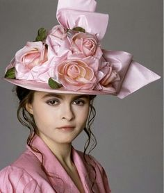Just look at those luscious pink roses! Helena Bonham Carter. From 'A Room With A View,' 1985.