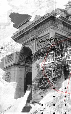 Cities by Rosco Flevo : In order to design for an environment, I believe it is important to fully understand said environment. This drawing is a good example of a study that attempts to understand Paris. Although all designers should be able to see like t Collage Architecture, Architecture Graphics, Architecture Drawings, Architecture Portfolio, Landscape Architecture, Photomontage, Gfx Design, Graphic Design, Collage Art