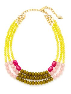 Multicolor Dyed Jade Triple Row Necklace