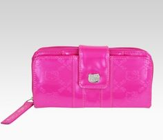 Hello Kitty Hot Magenta Patent Clutch Wallet  Loungefly for Hello Kitty