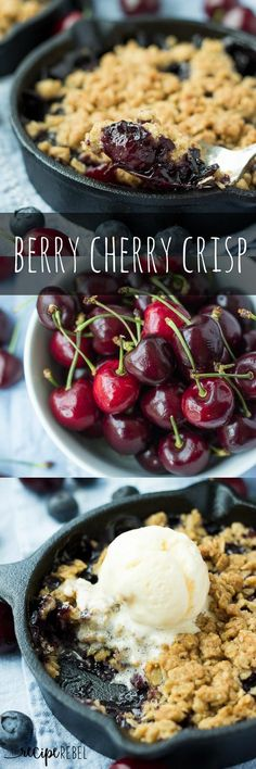 Berry Cherry Crisp -