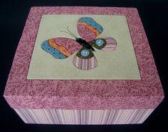 Caixa Patchwork no isopor - Borboleta | Flickr: Intercambio de fotos