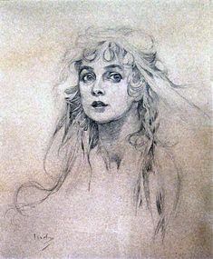 Maude Adams // drawing by Alphonse Mucha