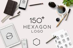 150+ Minimal Hexagon Logo Templates by wopras on @creativemarket