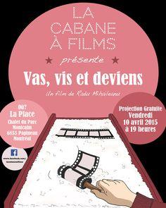Affiche pour La Cabane à Films, Ciné-Club de la Petite-Patrie - Montréal - Québec