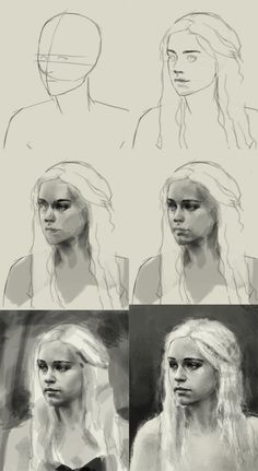 How to draw Daenerys