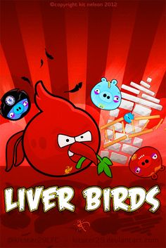 Angry Liver Birds Mobile Wallpaper by *kitster29 on deviantART