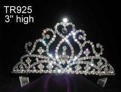 Bridal Queen Princess Rhinestone Crown Tiara