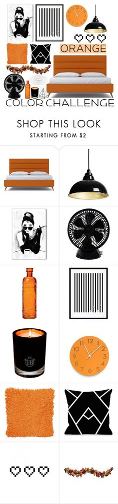 """""""Color Challenge: Orange and Black"""" by may-calista ❤ liked on Polyvore featuring interior, interiors, interior design, home, home decor, interior decorating, Oliver Gal Artist Co., Keystone, Cultural Intrigue and Eleanor Stuart"""