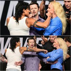 """Valentina Shevchenko on face-off with Amanda Nunes (via www.mma.uno): """"I think that her nerves are at the point of exploding. [Nunes] didn't endure the pressure of the press conference. She acted like a crazy woman who can't control her nerves."""" #UFC213 #mma #ufc"""