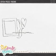 Stitch Pieces freebie from The Doodle Queen #scrapbook #digiscrap #scrapbooking #digifree #scrap