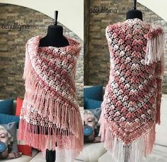 Crochet Jacket Pattern, Crochet Poncho, Poncho Shawl, Elsa, Jackets, Beauty, Instagram, Dresses, Shawls