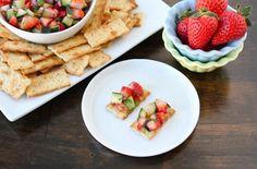 Strawberry Cucumber Salsa #Appetizer, #Salsa,