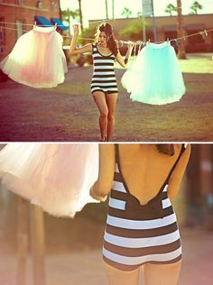 stripes #style #fashion #swimwear