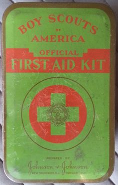 Antique 1940's Boy Scouts of America First Aid Kit