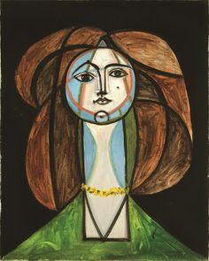 Pablo Picasso, Femme au collier jaune, May 31, 1946