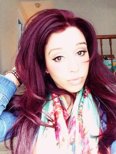 Pictures of red violet hair color - Red Hair Green Eyes, Red Violet Hair, Violet Hair Colors, Purple Hair, Love Hair, Big Hair, Black Cherry Hair, Hair Images, Turquoise
