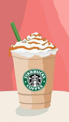 I love starbucks! My first vector selfmade :D Food Wallpaper, Cute Wallpaper For Phone, Emoji Wallpaper, Aesthetic Iphone Wallpaper, Wallpaper Awesome, Aesthetic Wallpapers, Starbucks Art, Starbucks Drinks, Starbucks Background