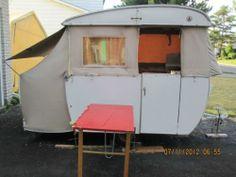 1961 Dethleffs camper Trailer VW Bus and Beetle Goggomobil Towable Camper Trailers, Campers, Camping Stuff, Caravans, Vw Bus, Beetle, Outdoor Gear, Tent, Shed
