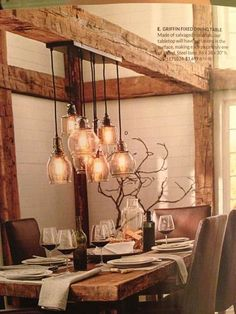 Dining table lighting
