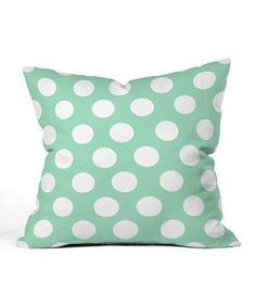 Loving this Polka Dot Throw Pillow on #zulily! #zulilyfinds