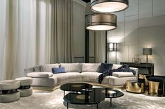 for family room (artu - Fendi Casa) interior collections by Luxury Living Group Contemporary Interior Design, Luxury Interior Design, Best Interior, Modern House Design, Interior Decorating, Decorating Games, Modern Contemporary, Living Room Furniture, Home Furniture