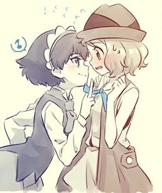 Serena and Miette #Amourshipping ^.^ ♡ I give good credit to whoever made this