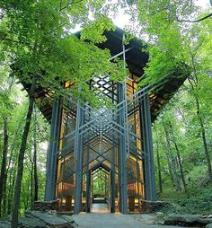 "Atlas Obscura (@atlasobscura) on Instagram: ""Thorncrown Chapel is a beautiful glass church located in the Ozark Mountains that looks like…"""