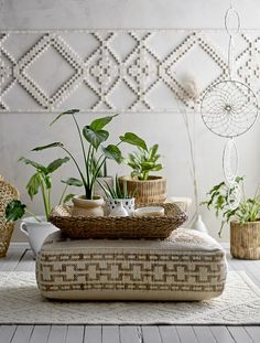 Bloomsbury Market This beautiful votive is bringing personality to every home and offer the opportunity to make every space memorable Oversized Ottoman, Yarn Wall Art, White Wicker, Wicker Baskets, Modern Decor, Home Accessories, Hand Weaving, Wall Decor, Hygge