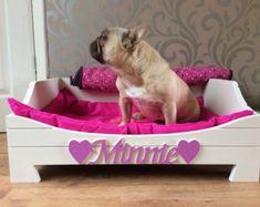 Cama del animal doméstico - hecho en Gran Bretaña o personalizado a medida MDF madera perro gato