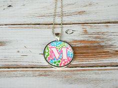 Monogram Necklace Monogram Jewelry by PoshPrincessBows1 on Etsy
