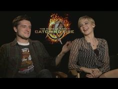 "CATCHING FIRE Interviews - Jennifer Lawrence, Josh Hutcherson, Liam Hemsworth, Sam Clafin, more - So funny, ""What did you fangirl/ obsess about?"""