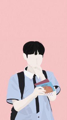 Cover Boy, Vector Portrait, Korean Art, Portrait Illustration, Kpop Fanart, Art Background, Cartoon Art, Cute Drawings, Cute Wallpapers