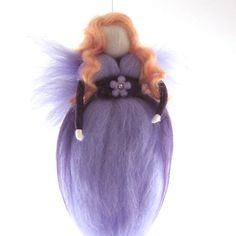 Purple Fairy Needle Felted Waldorf Fairy by RolyzTreasures on Etsy