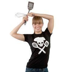 Pirate Chef T-shirt: Black + White