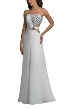 Formal dress - Pin It :-) Follow Us :-))    CLICK IMAGE TWICE for Pricing and Info :) SEE A LARGER SELECTION of formal dress at http://azdresses.com/category/dress-categories/dresses-by-occassion/formal-dress/ - women, womens fashion, dress, womens dresses  - GEORGE BRIDE White Formal Elegant Evening Dress Size 8 White « AZdresses.com