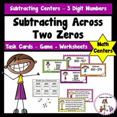 math worksheet : 1000 images about subtraction across zeros on pinterest  zero  : Subtracting Across Zeros Worksheet 4th Grade