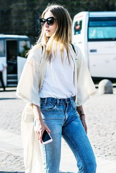 12 Ways to Wear Denim When It's So Hot Out via @WhoWhatWear