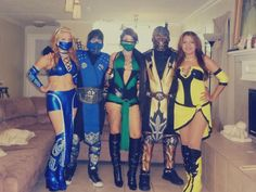 Our 2013 Halloween Mortal Kombat costumes   From left to right: Kitana, Sub Zero, Jade, Scorpion and Tanya.